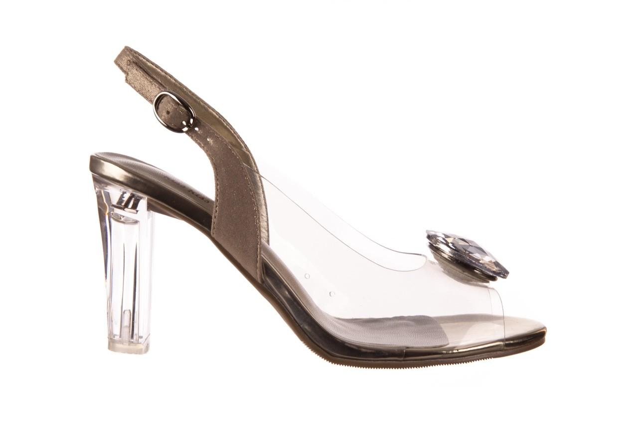 Sandały sca'viola g-17 gold, złoty, silikon - gumowe - sandały - buty damskie - kobieta 8