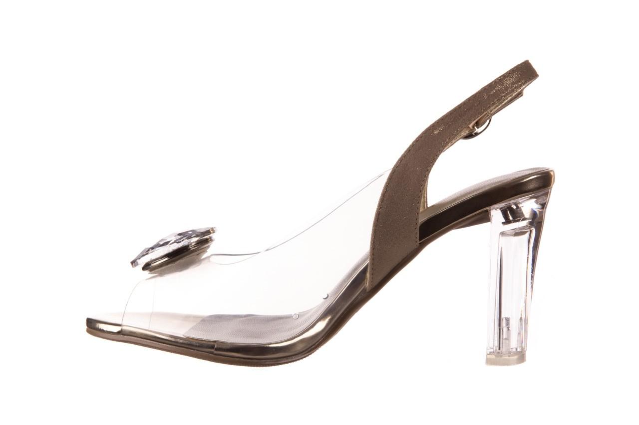 Sandały sca'viola g-17 gold, złoty, silikon - gumowe - sandały - buty damskie - kobieta 10
