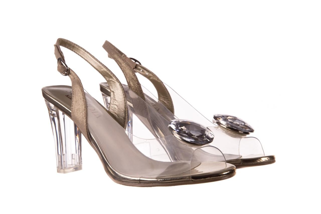 Sandały sca'viola g-17 gold, złoty, silikon - gumowe - sandały - buty damskie - kobieta 9