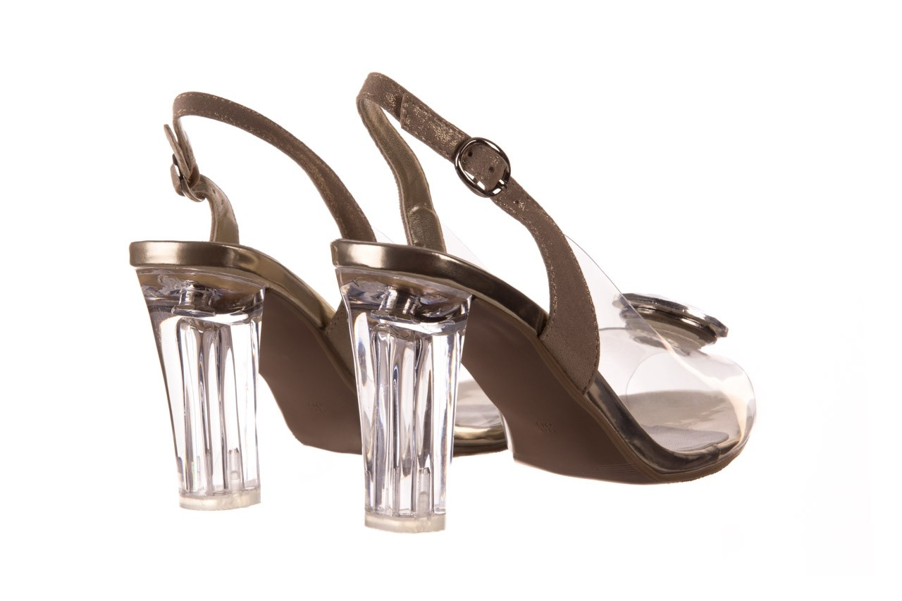 Sandały sca'viola g-17 gold, złoty, silikon - gumowe - sandały - buty damskie - kobieta 11