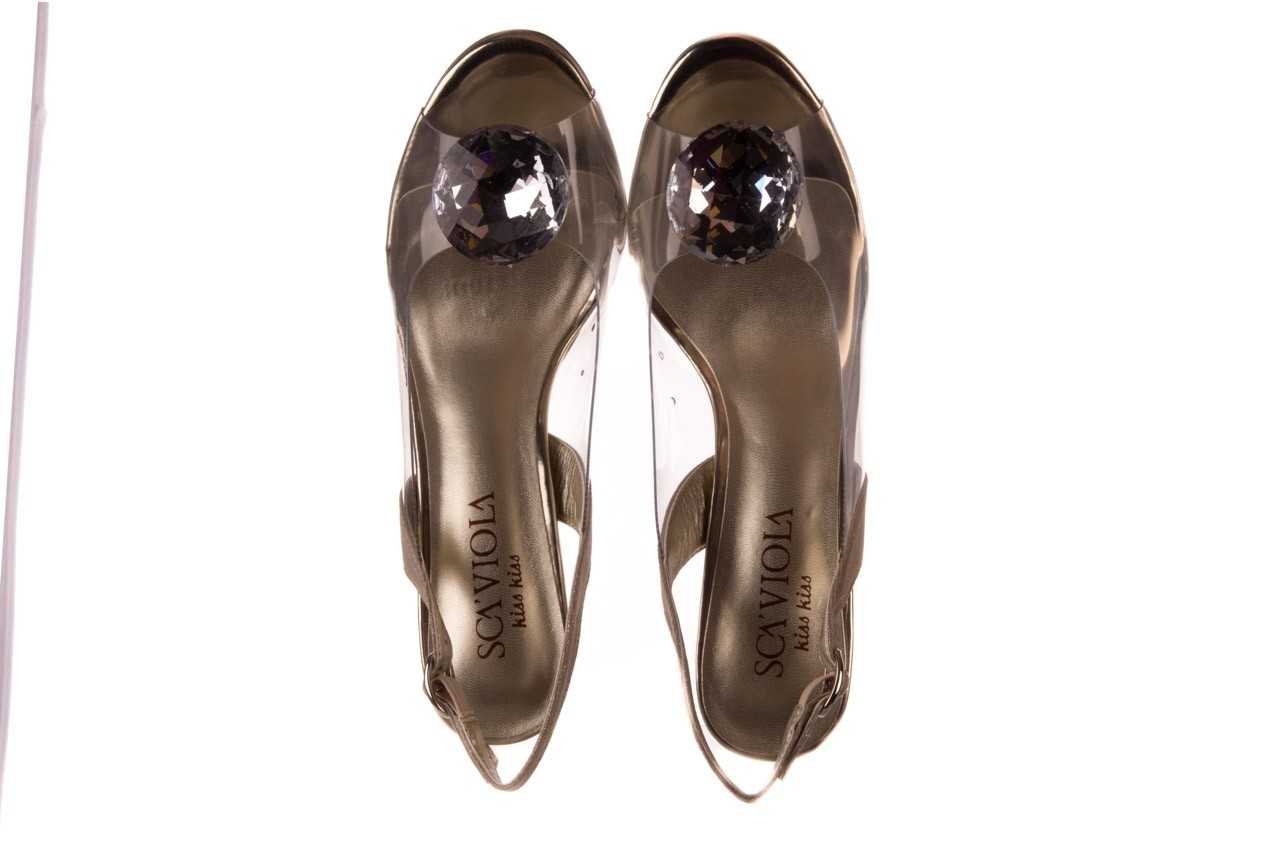Sandały sca'viola g-17 gold, złoty, silikon - gumowe - sandały - buty damskie - kobieta 12