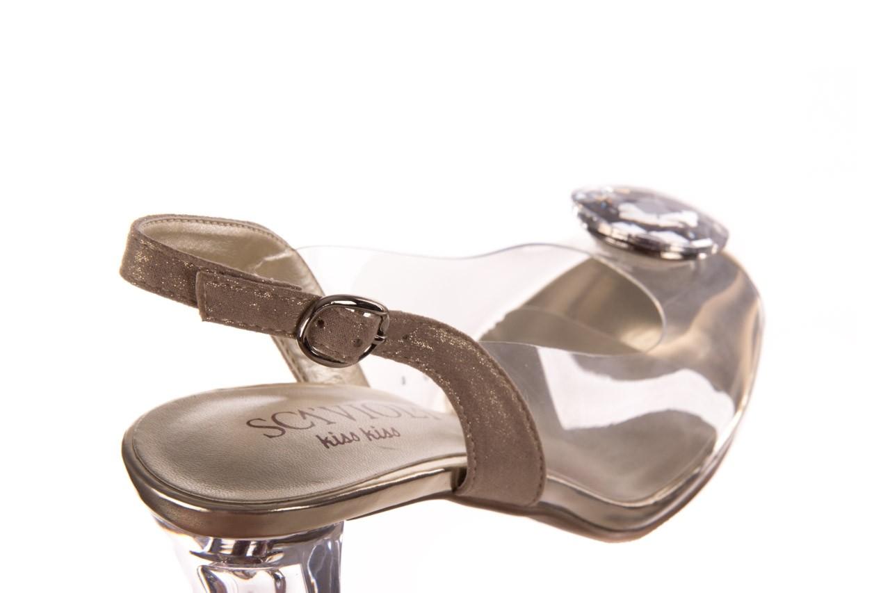 Sandały sca'viola g-17 gold, złoty, silikon - gumowe - sandały - buty damskie - kobieta 14
