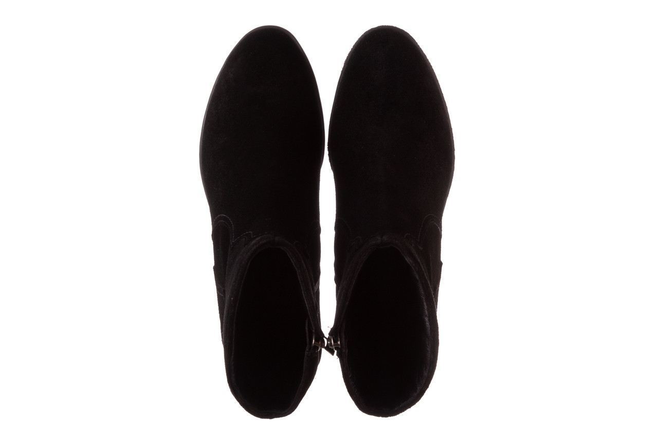 Botki bayla-196 147802 siy yarma 196005, czarny, skóra naturalna  - kowbojki / boho - botki - buty damskie - kobieta 14