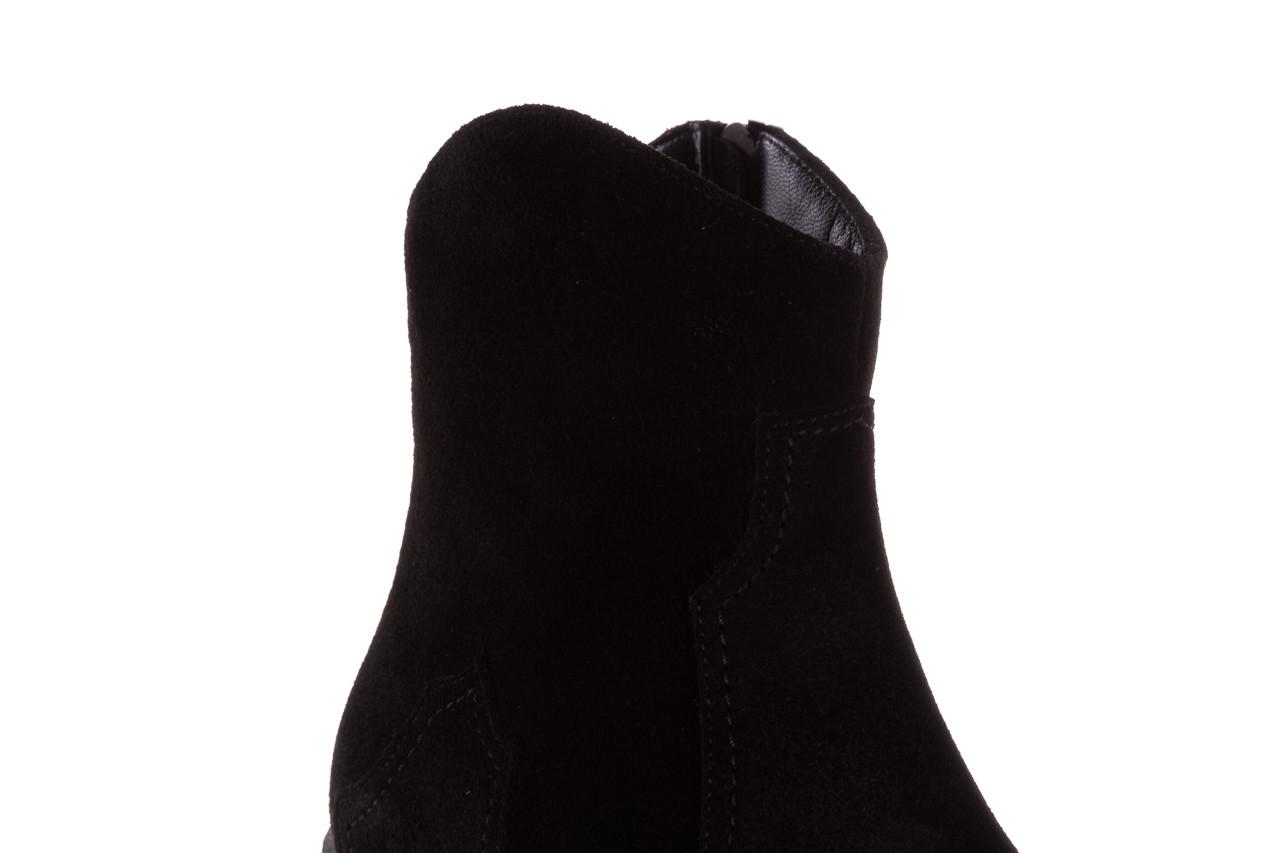 Botki bayla-196 147802 siy yarma 196005, czarny, skóra naturalna  - kowbojki / boho - botki - buty damskie - kobieta 17