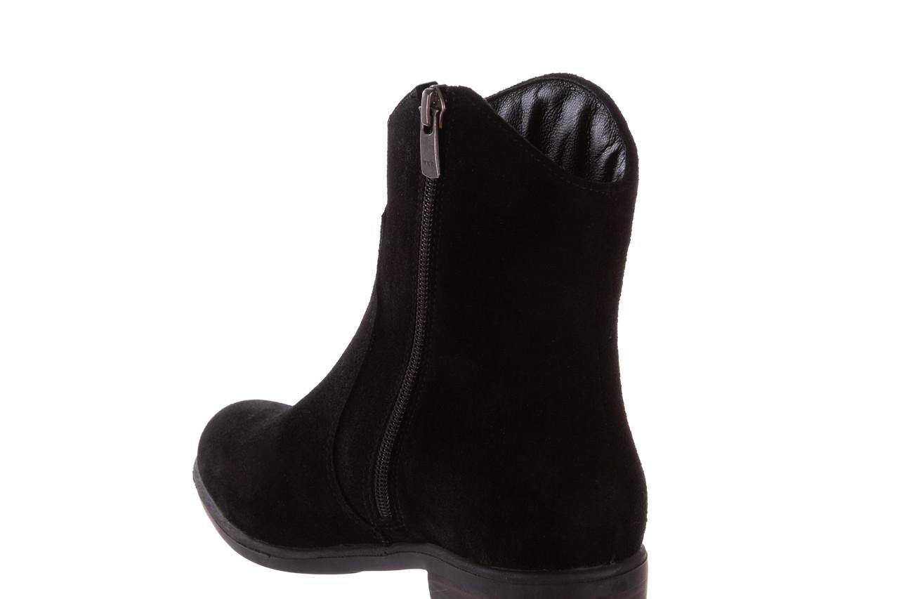 Botki bayla-196 147802 siy yarma 196005, czarny, skóra naturalna  - kowbojki / boho - botki - buty damskie - kobieta 16