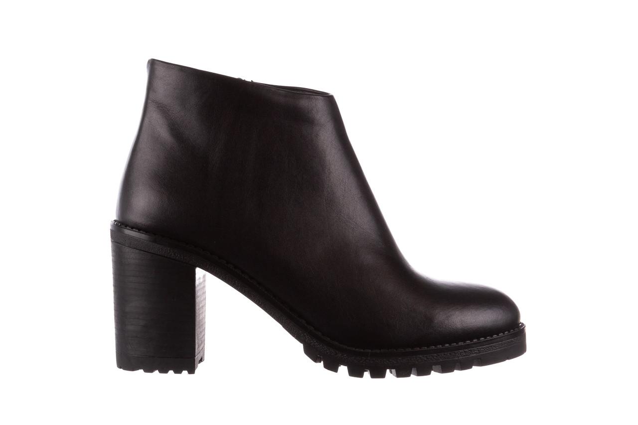 Botki bayla-196 969601 siy soft 196030, czarny, skóra naturalna  - botki - buty damskie - kobieta 9