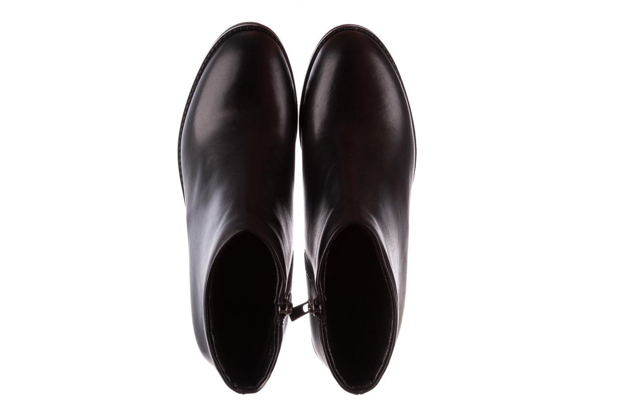 Botki bayla-196 969601 siy soft 196030, czarny, skóra naturalna  - botki - buty damskie - kobieta 14