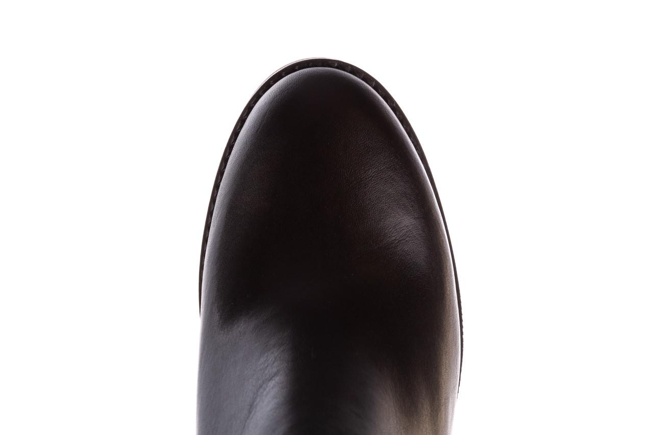 Botki bayla-196 969601 siy soft 196030, czarny, skóra naturalna  - botki - buty damskie - kobieta 16