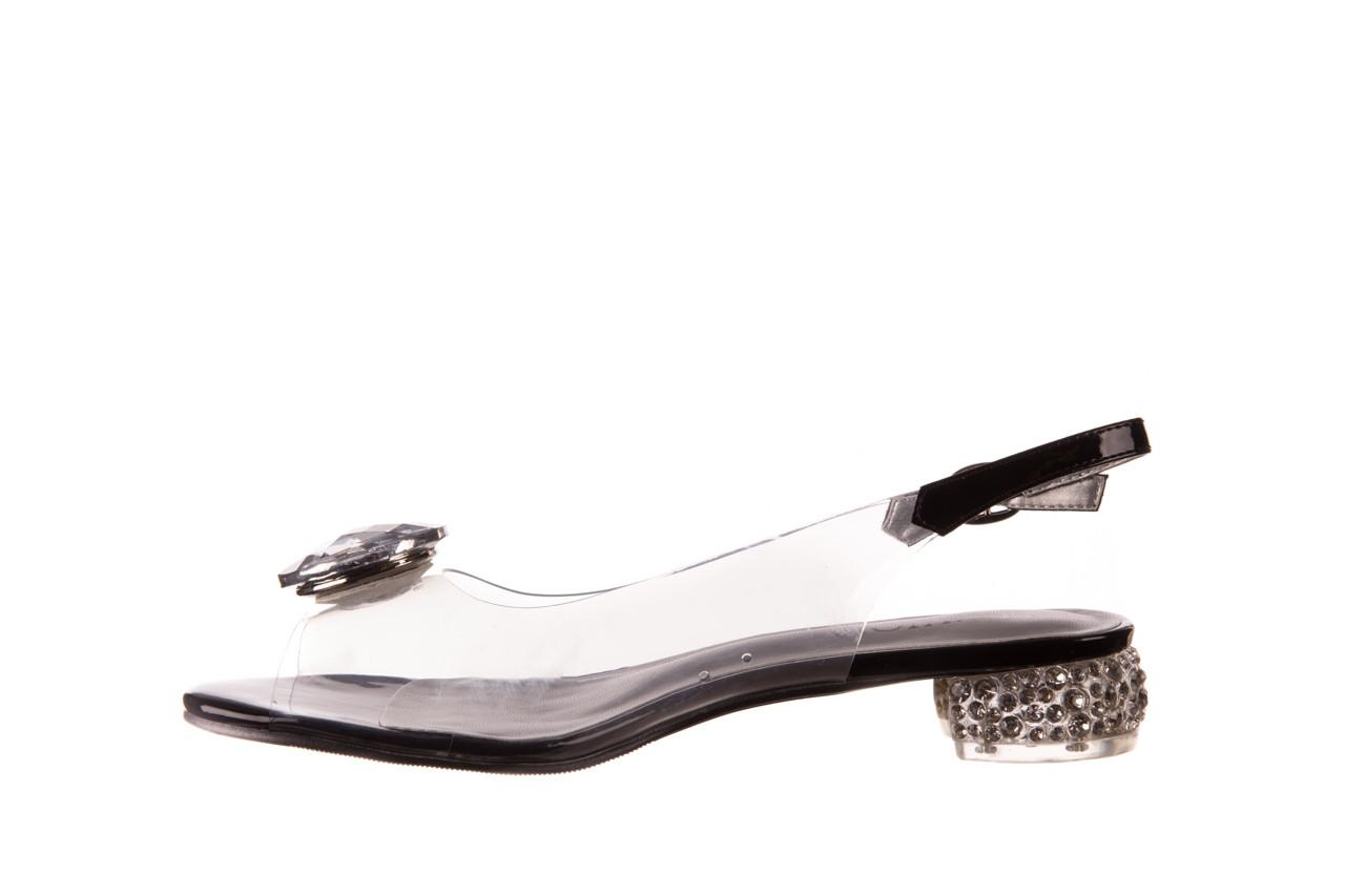 Sandały sca'viola g-15 black 21 047181, czarny, silikon  - sandały - buty damskie - kobieta 9