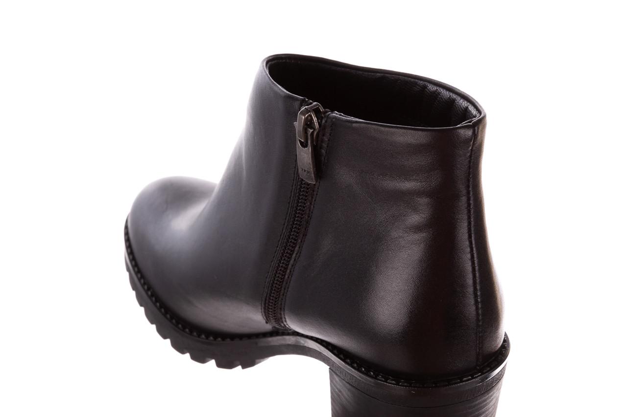 Botki bayla-196 969601 siy soft 196030, czarny, skóra naturalna  - botki - buty damskie - kobieta 17