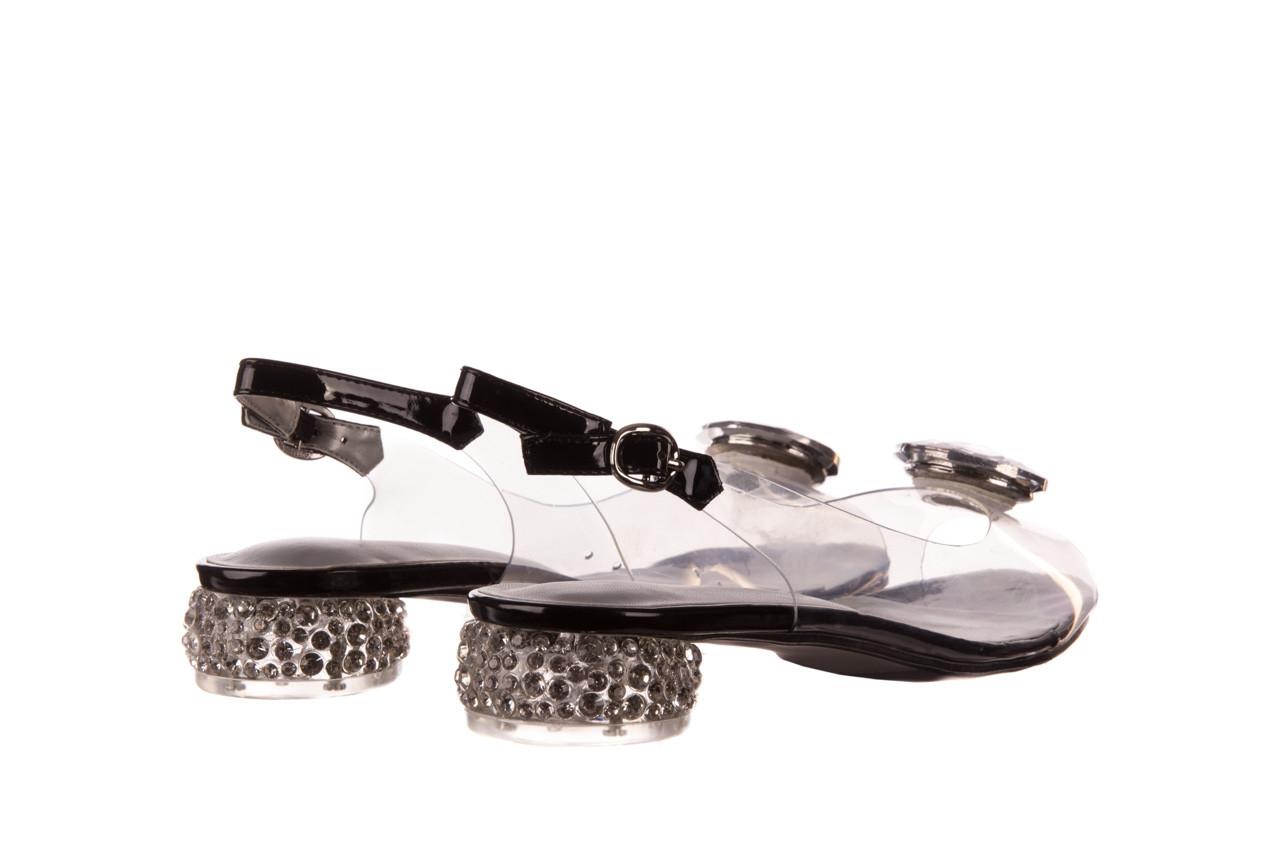 Sandały sca'viola g-15 black 21 047181, czarny, silikon  - sandały - buty damskie - kobieta 10