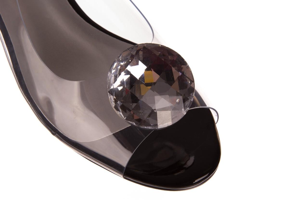 Sandały sca'viola g-15 black, czarny, silikon - mega okazje - ostatnie rozmiary 12