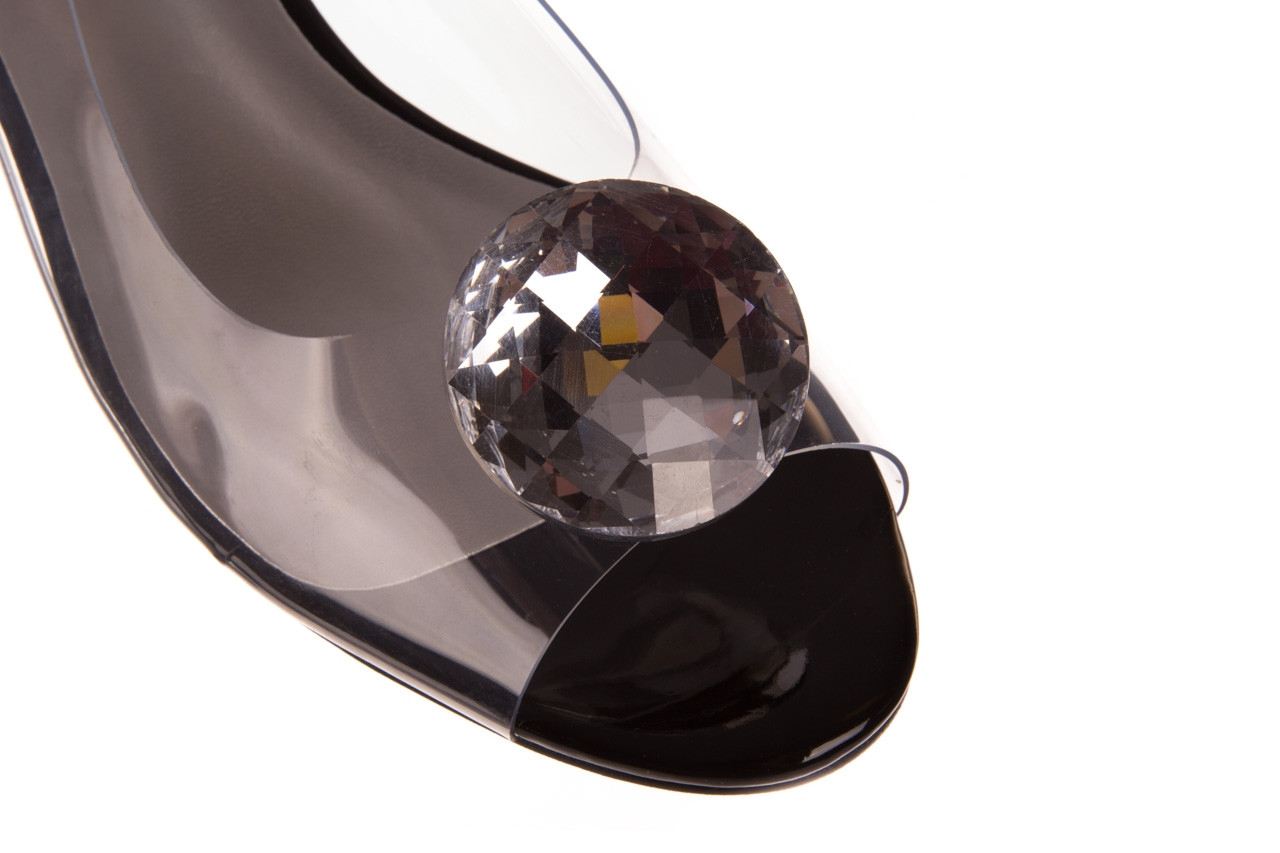 Sandały sca'viola g-15 black 21 047181, czarny, silikon  - sandały - buty damskie - kobieta 12