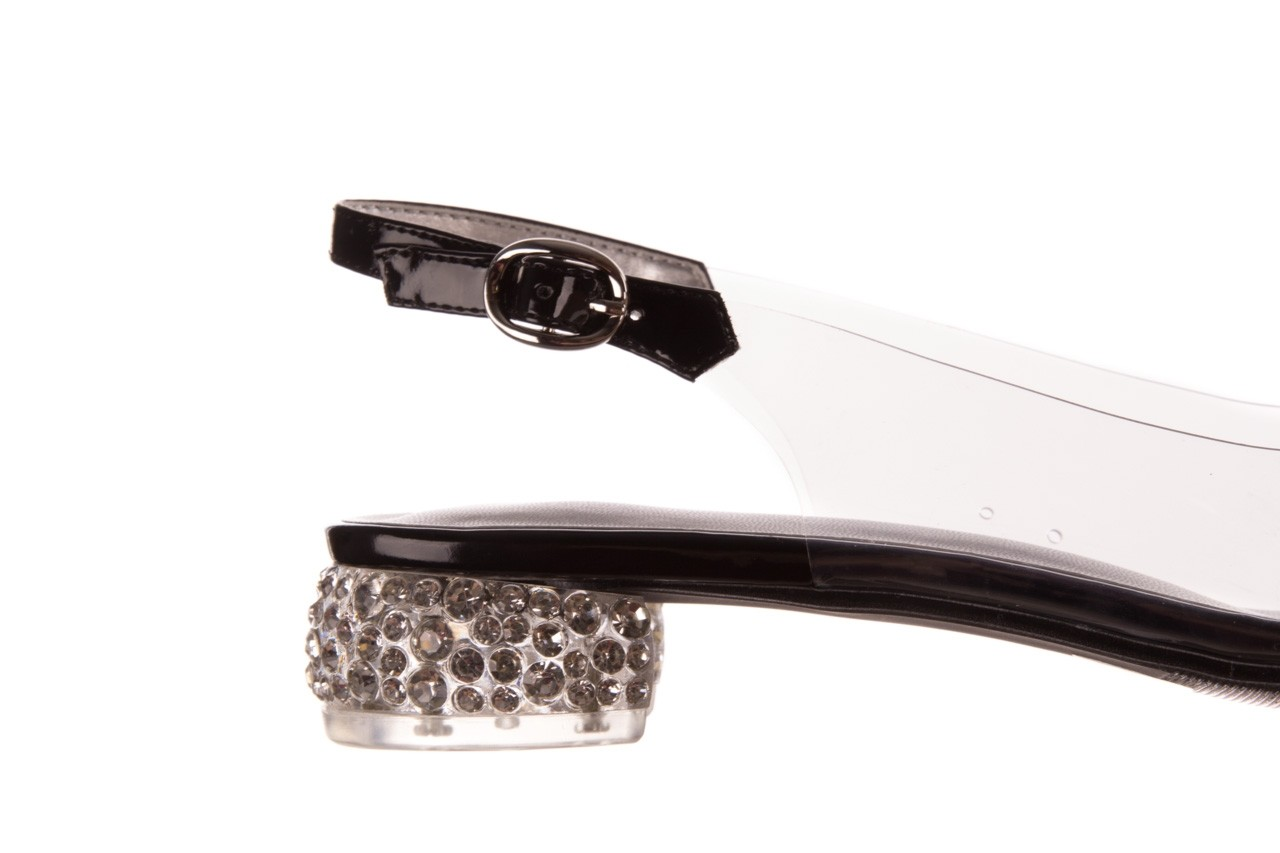 Sandały sca'viola g-15 black, czarny, silikon - mega okazje - ostatnie rozmiary 13