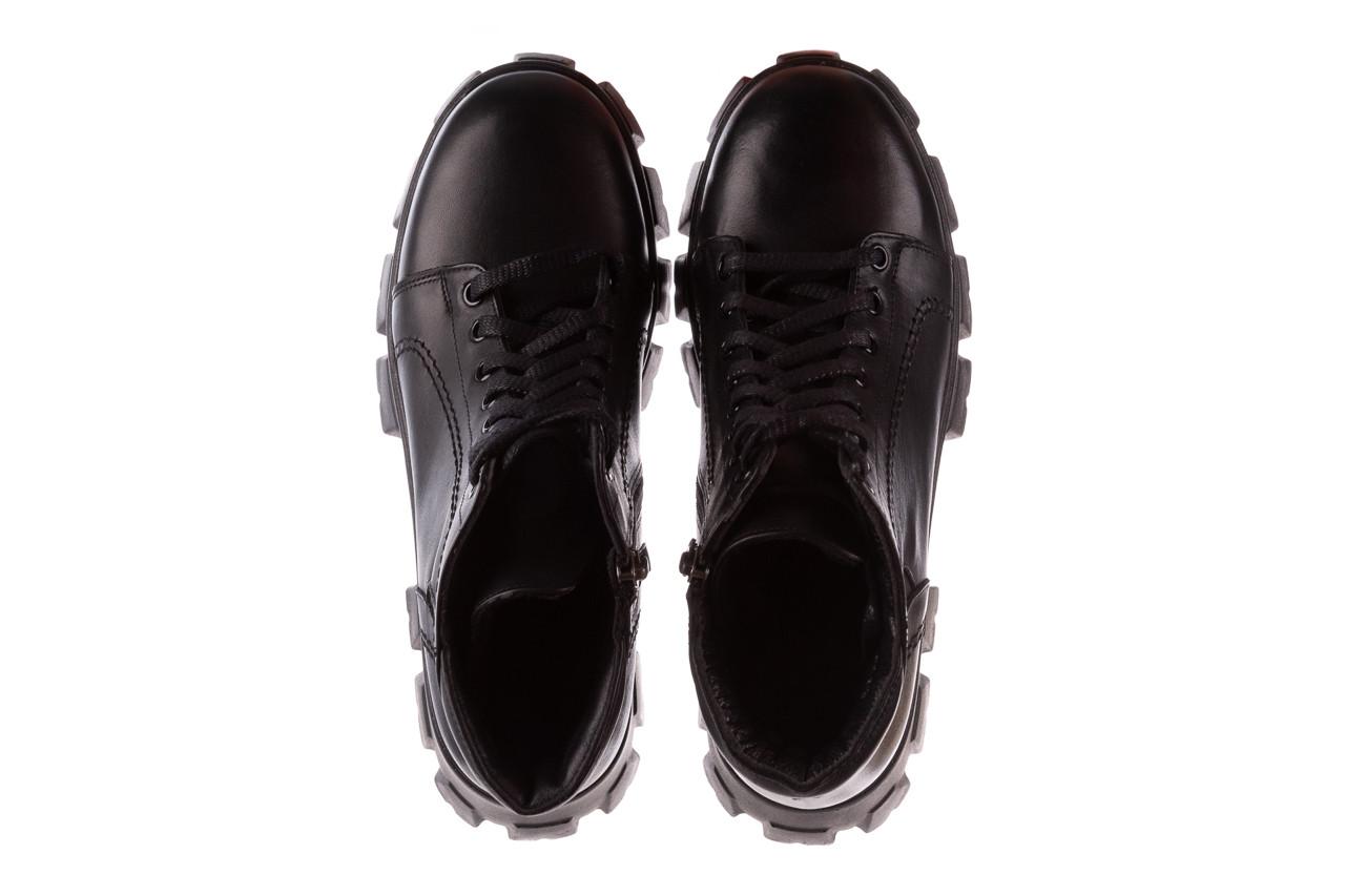 Botki bayla-196 20ef126-03 d44 196020, czarny, skóra naturalna  - skórzane - botki - buty damskie - kobieta 17
