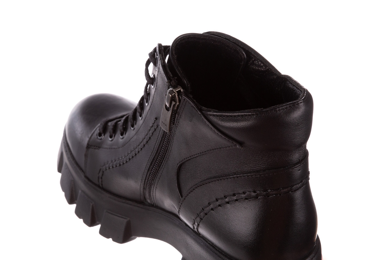 Botki bayla-196 20ef126-03 d44 196020, czarny, skóra naturalna  - skórzane - botki - buty damskie - kobieta 20
