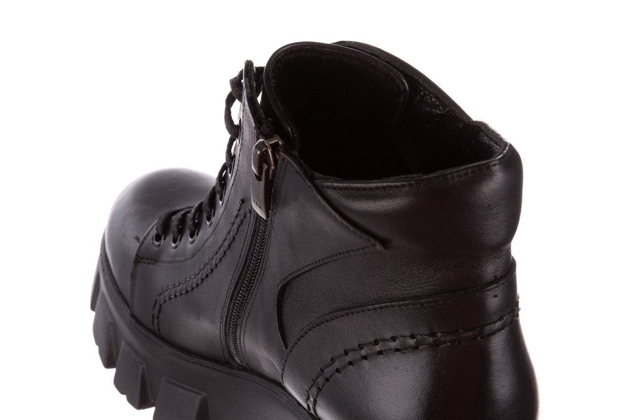 Botki bayla-196 20ef126-03 d44 196020, czarny, skóra naturalna  - botki - buty damskie - kobieta 23