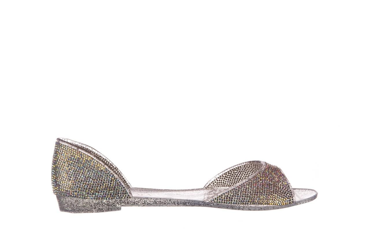 Baleriny sca'viola g-22 silver, srebrny, silikon  - peep toe - baleriny - buty damskie - kobieta 7