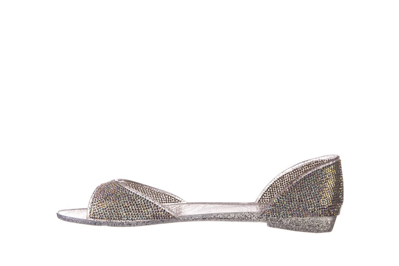 Baleriny sca'viola g-22 silver, srebrny, silikon  - peep toe - baleriny - buty damskie - kobieta 9