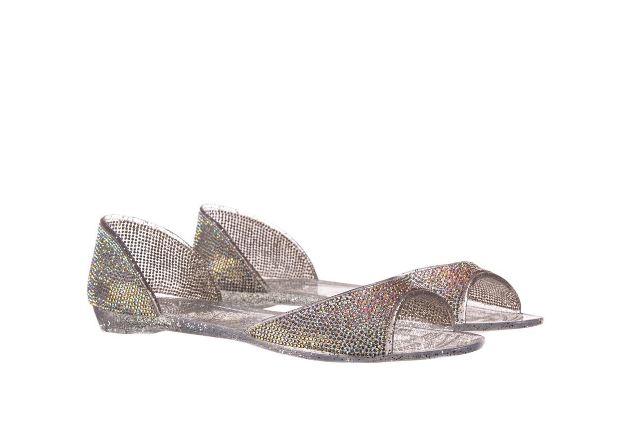 Baleriny sca'viola g-22 silver, srebrny, silikon  - peep toe - baleriny - buty damskie - kobieta 8