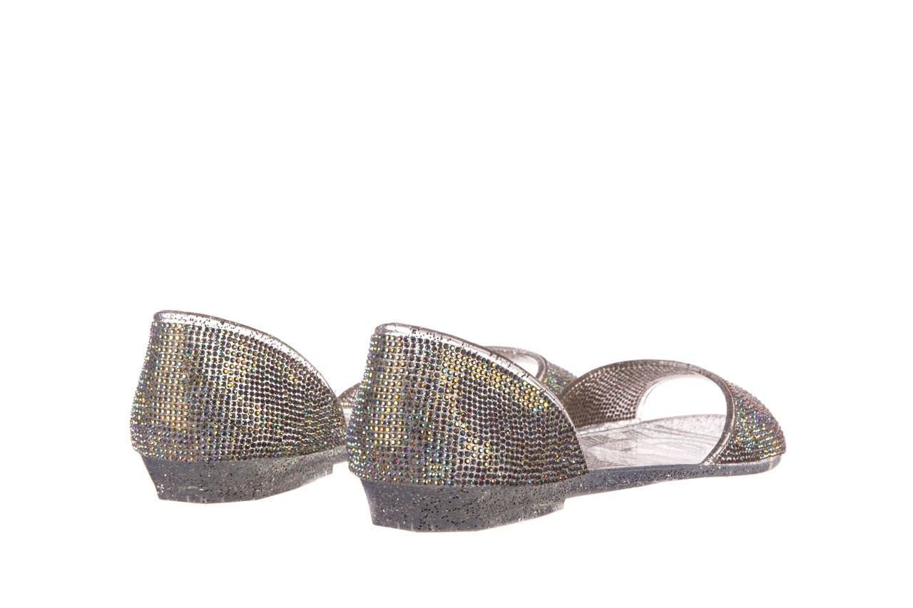 Baleriny sca'viola g-22 silver, srebrny, silikon  - peep toe - baleriny - buty damskie - kobieta 10