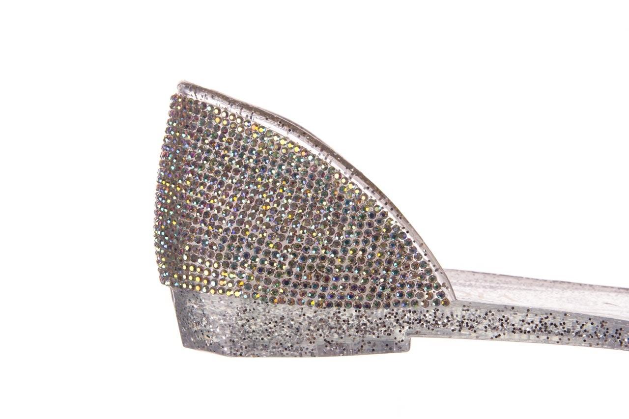 Baleriny sca'viola g-22 silver, srebrny, silikon  - peep toe - baleriny - buty damskie - kobieta 13