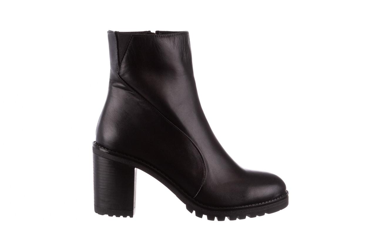 Botki bayla-196 969606 siy soft 196031, czarny, skóra naturalna  - skórzane - botki - buty damskie - kobieta 10