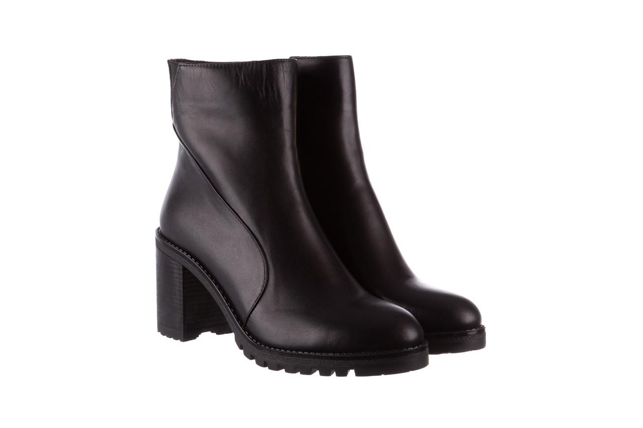 Botki bayla-196 969606 siy soft 196031, czarny, skóra naturalna  - skórzane - botki - buty damskie - kobieta 11