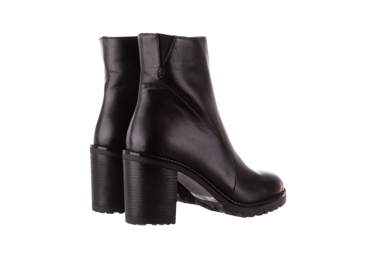 Botki bayla-196 969606 siy soft 196031, czarny, skóra naturalna  - skórzane - botki - buty damskie - kobieta 14