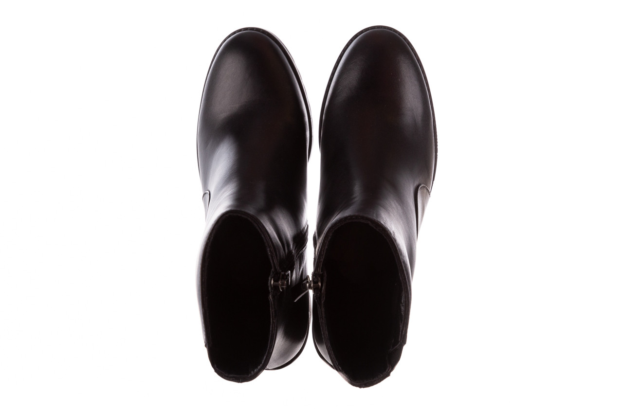 Botki bayla-196 969606 siy soft 196031, czarny, skóra naturalna  - skórzane - botki - buty damskie - kobieta 15
