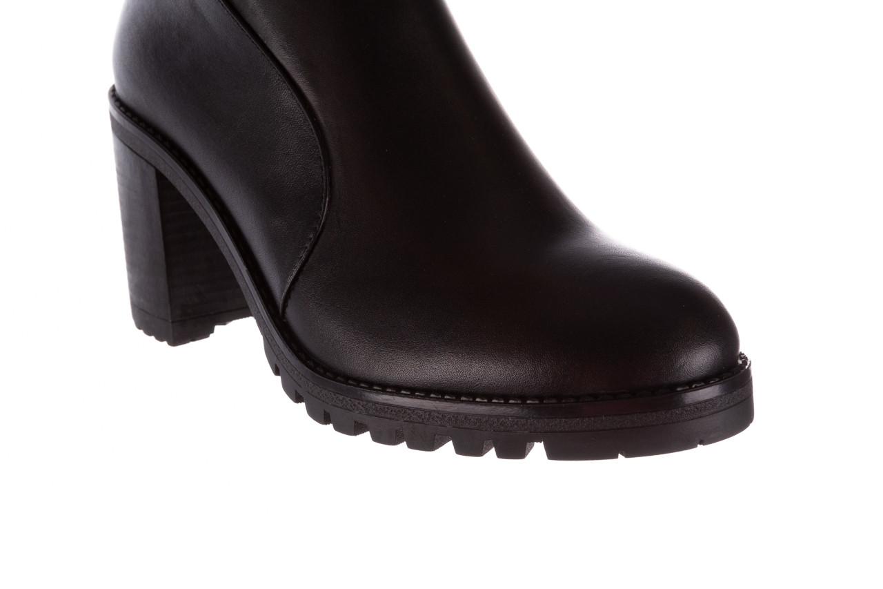 Botki bayla-196 969606 siy soft 196031, czarny, skóra naturalna  - skórzane - botki - buty damskie - kobieta 16