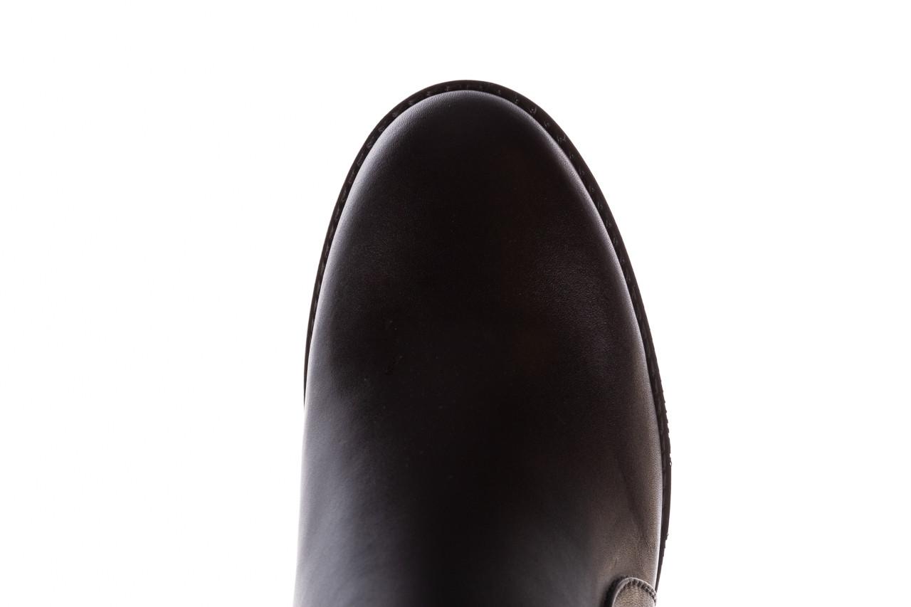 Botki bayla-196 969606 siy soft 196031, czarny, skóra naturalna  - skórzane - botki - buty damskie - kobieta 17
