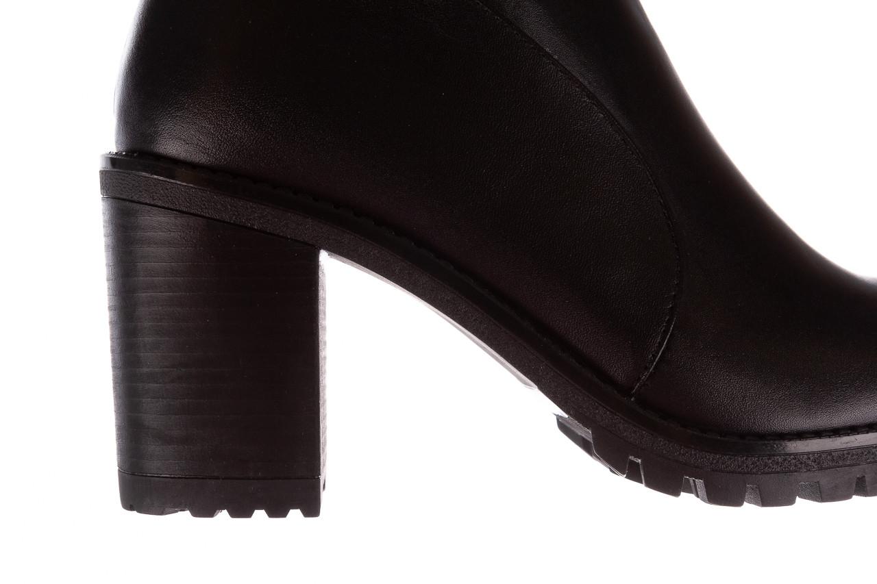 Botki bayla-196 969606 siy soft 196031, czarny, skóra naturalna  - kobieta 17