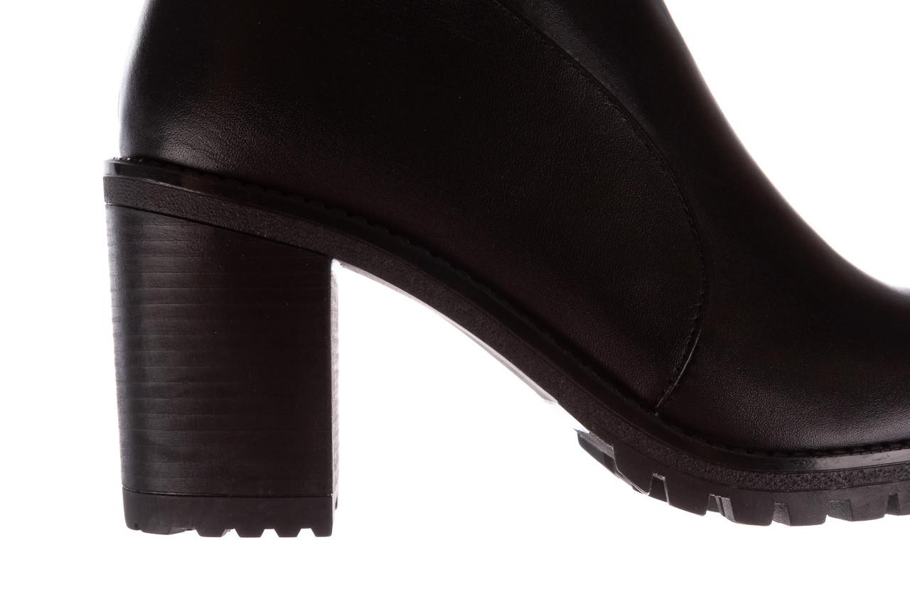 Botki bayla-196 969606 siy soft 196031, czarny, skóra naturalna  - skórzane - botki - buty damskie - kobieta 19
