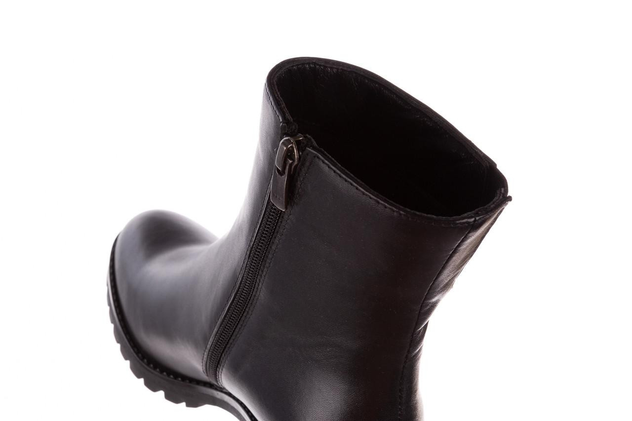 Botki bayla-196 969606 siy soft 196031, czarny, skóra naturalna  - skórzane - botki - buty damskie - kobieta 18