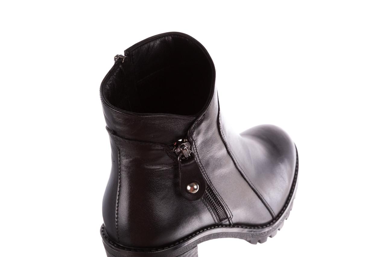 Botki bayla-196 969607 siy soft 196032, czarny, skóra naturalna  - trendy - kobieta 18