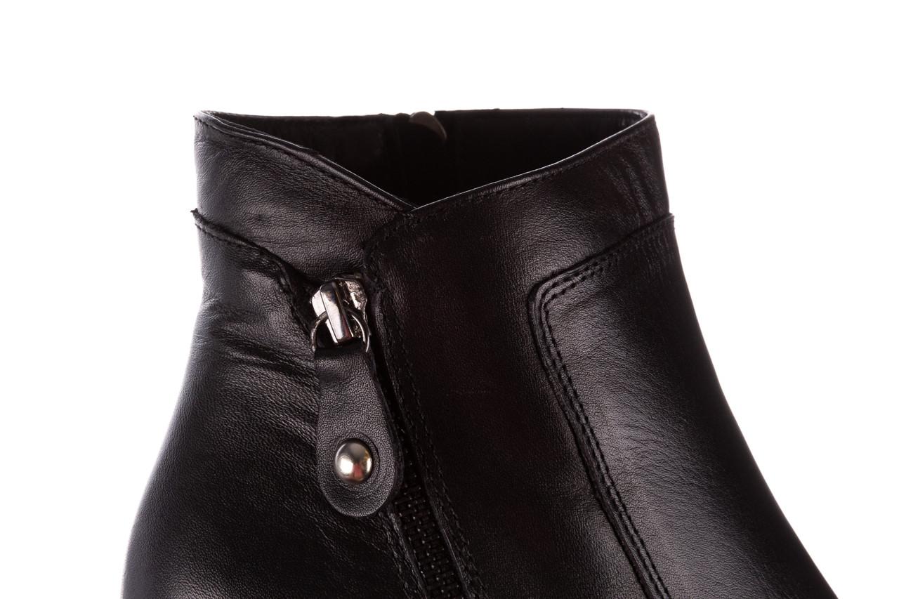 Botki bayla-196 969607 siy soft 196032, czarny, skóra naturalna  - trendy - kobieta 21