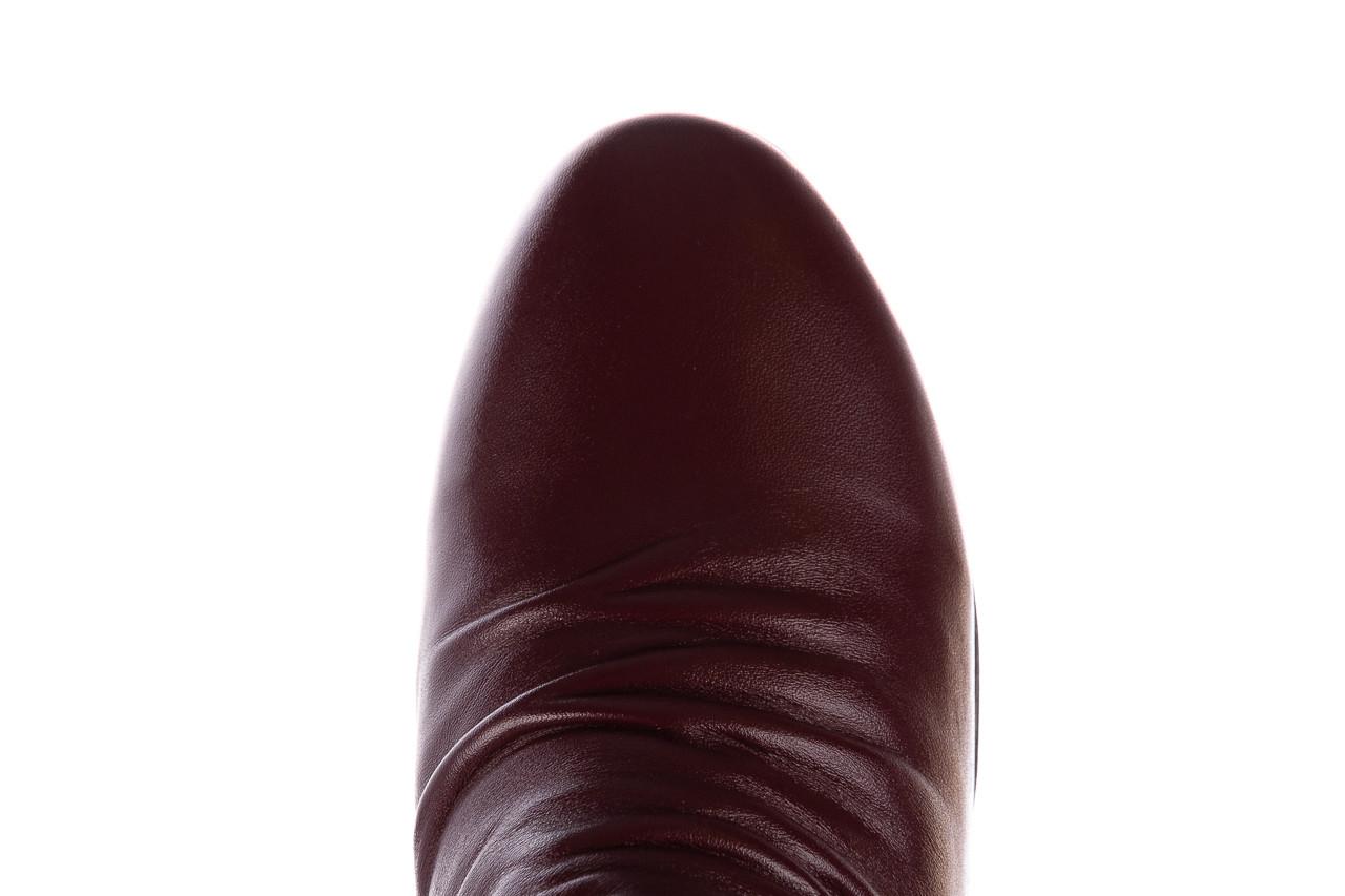 Botki bayla-196 avcilar-01 d75 bordo 196034, bordowy, skóra naturalna  - kobieta 17
