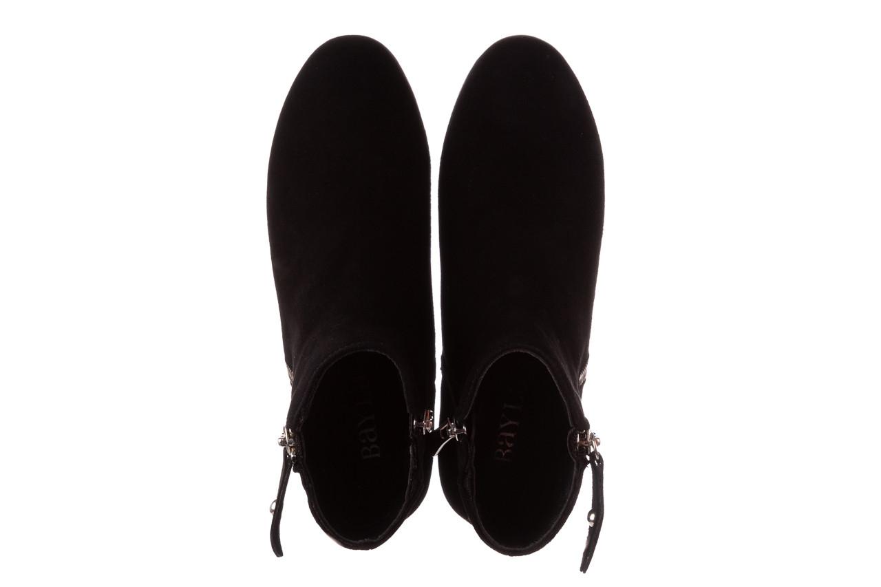 Botki bayla-196 avcilar-02 d78 196038, czarny, skóra naturalna  - botki - buty damskie - kobieta 16