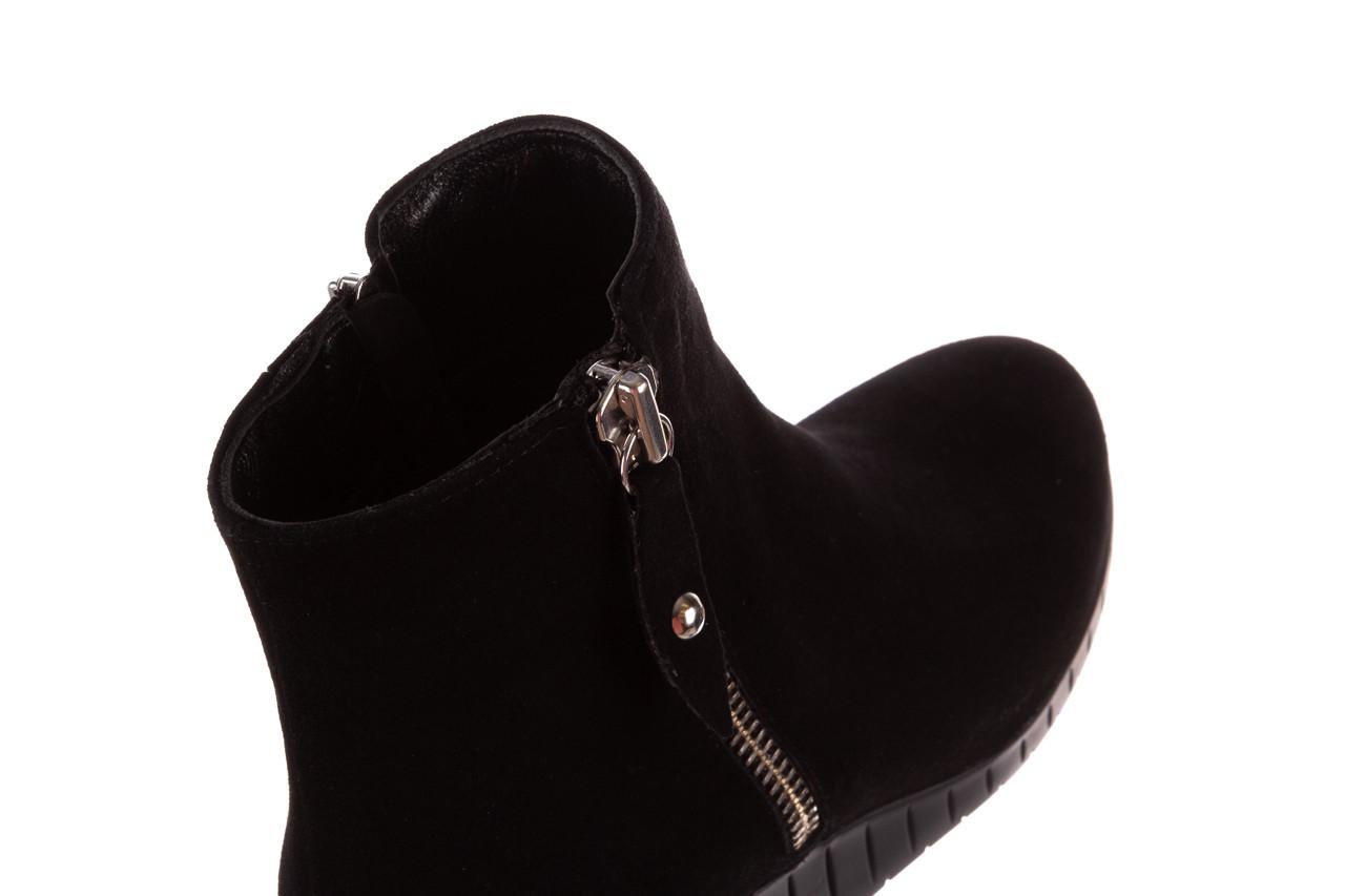 Botki bayla-196 avcilar-02 d78 196038, czarny, skóra naturalna  - botki - buty damskie - kobieta 20