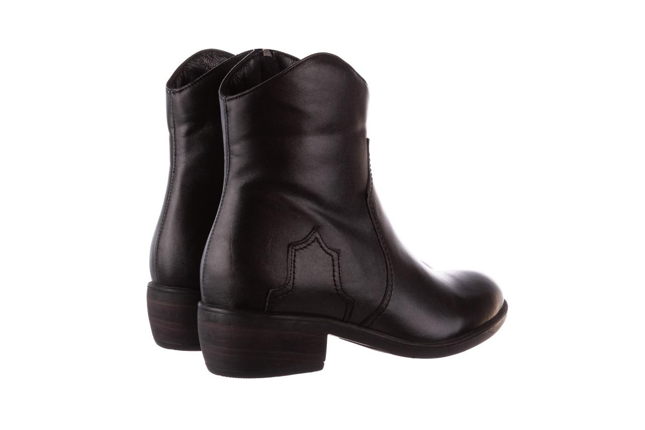 Botki bayla-196 147802 2008 196003, czarny, skóra naturalna  - skórzane - botki - buty damskie - kobieta 13