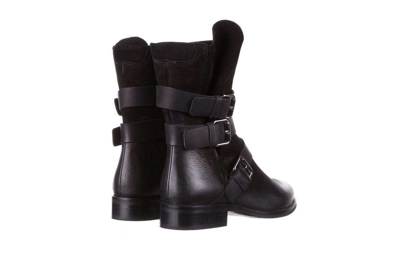 Botki bayla-161 050-09435 black, czarny, skóra naturalna  - skórzane - botki - buty damskie - kobieta 15