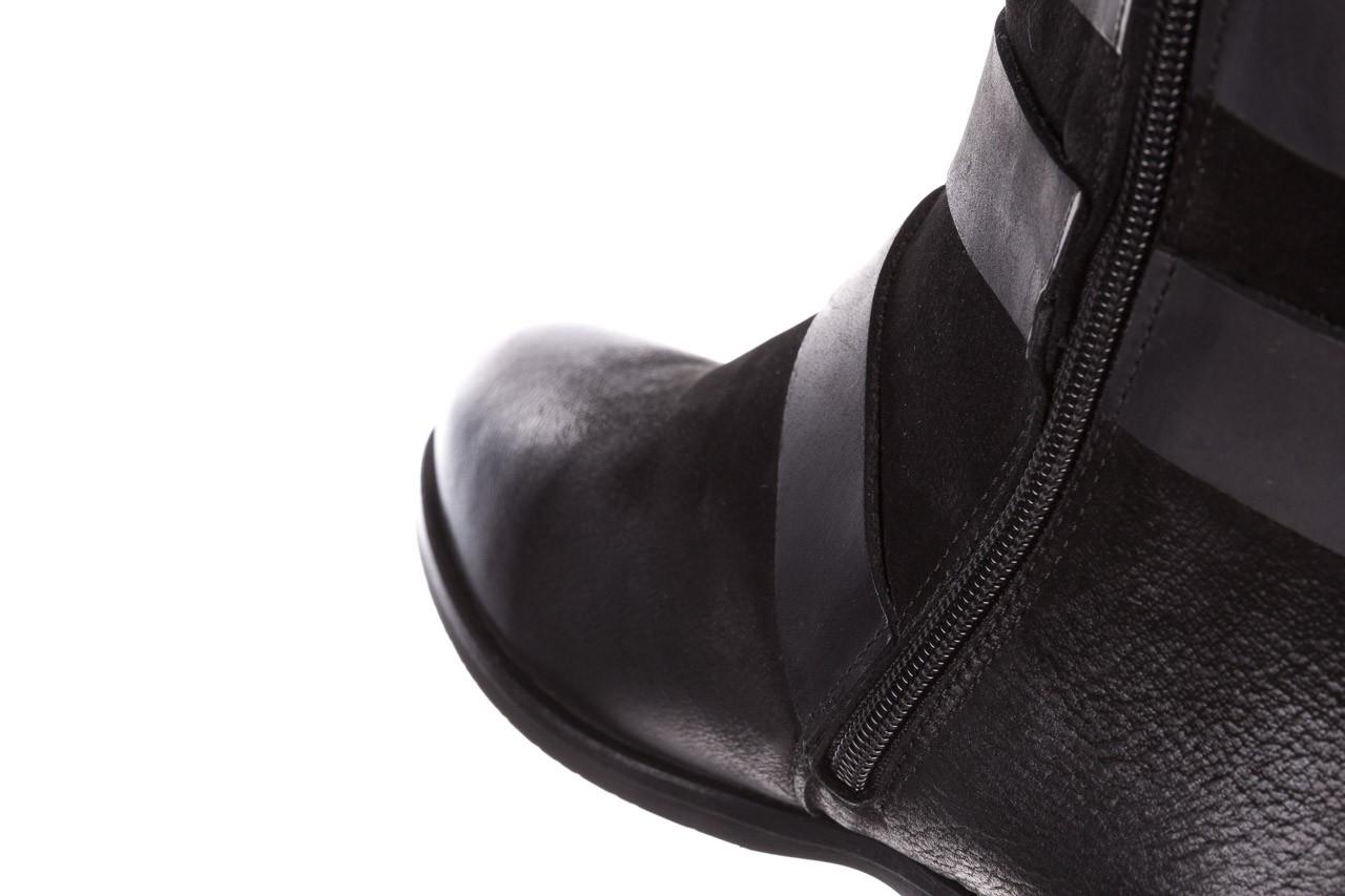 Botki bayla-161 050-09435 black, czarny, skóra naturalna  - skórzane - botki - buty damskie - kobieta 20