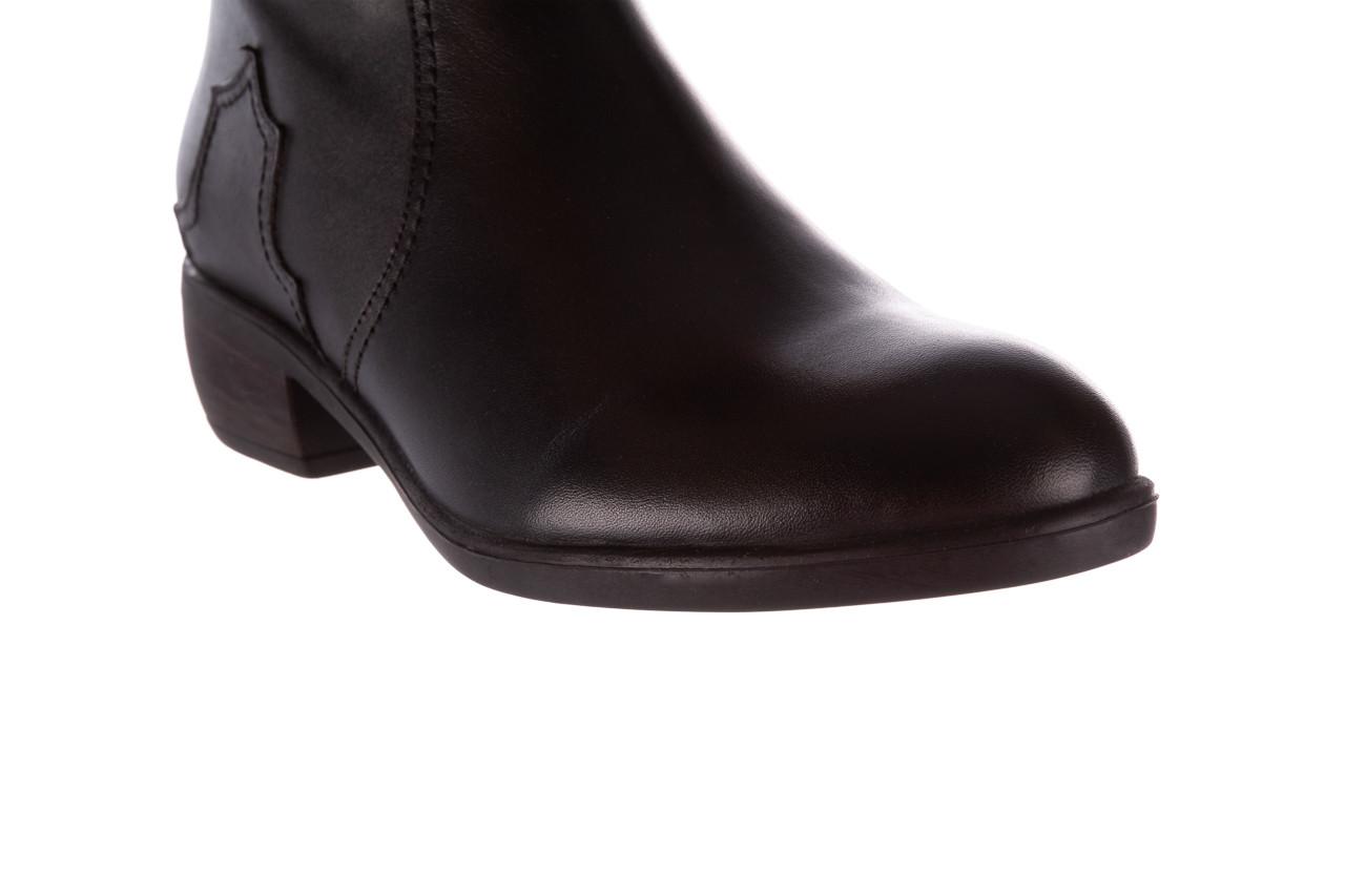 Botki bayla-196 147802 2008 196003, czarny, skóra naturalna  - skórzane - botki - buty damskie - kobieta 15