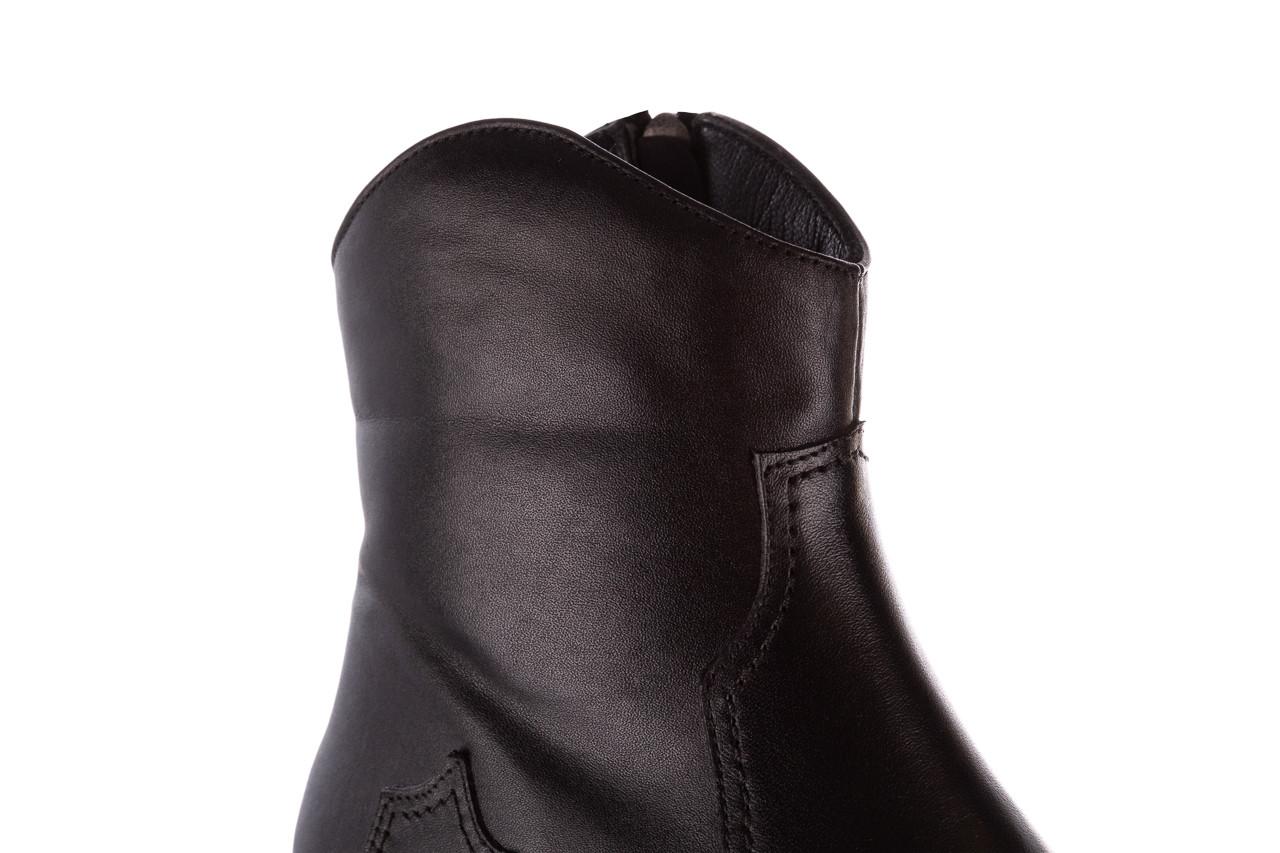 Botki bayla-196 147802 2008 196003, czarny, skóra naturalna  - skórzane - botki - buty damskie - kobieta 16