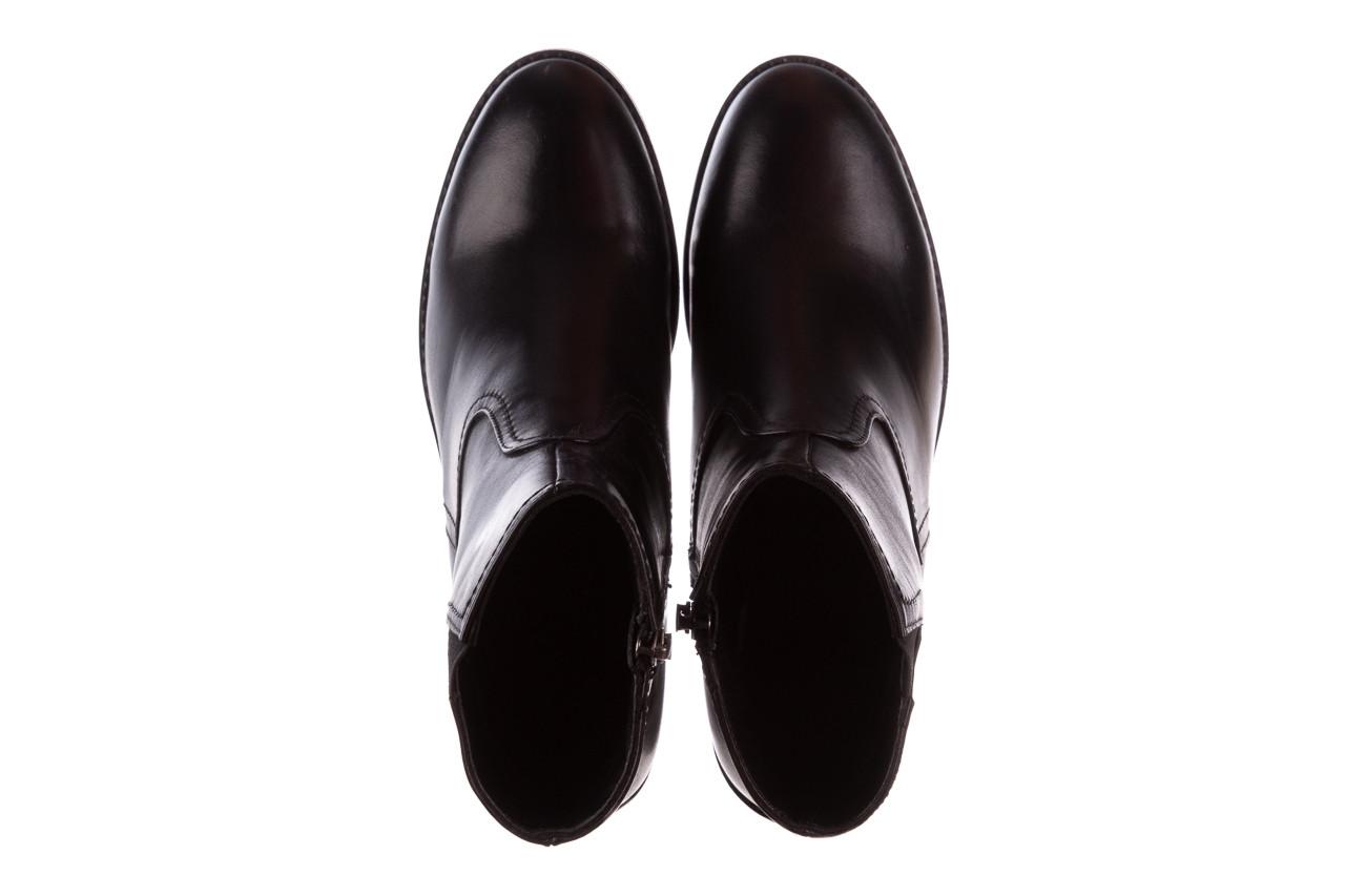 Botki bayla-196 969608 siy soft 196033, czarny, skóra naturalna  - skórzane - botki - buty damskie - kobieta 15
