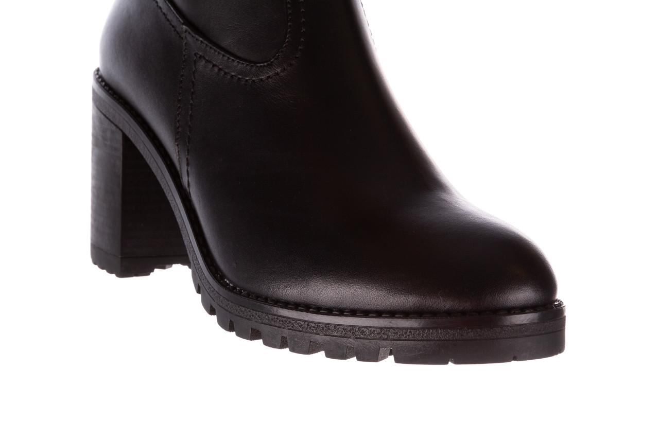 Botki bayla-196 969608 siy soft 196033, czarny, skóra naturalna  - skórzane - botki - buty damskie - kobieta 16