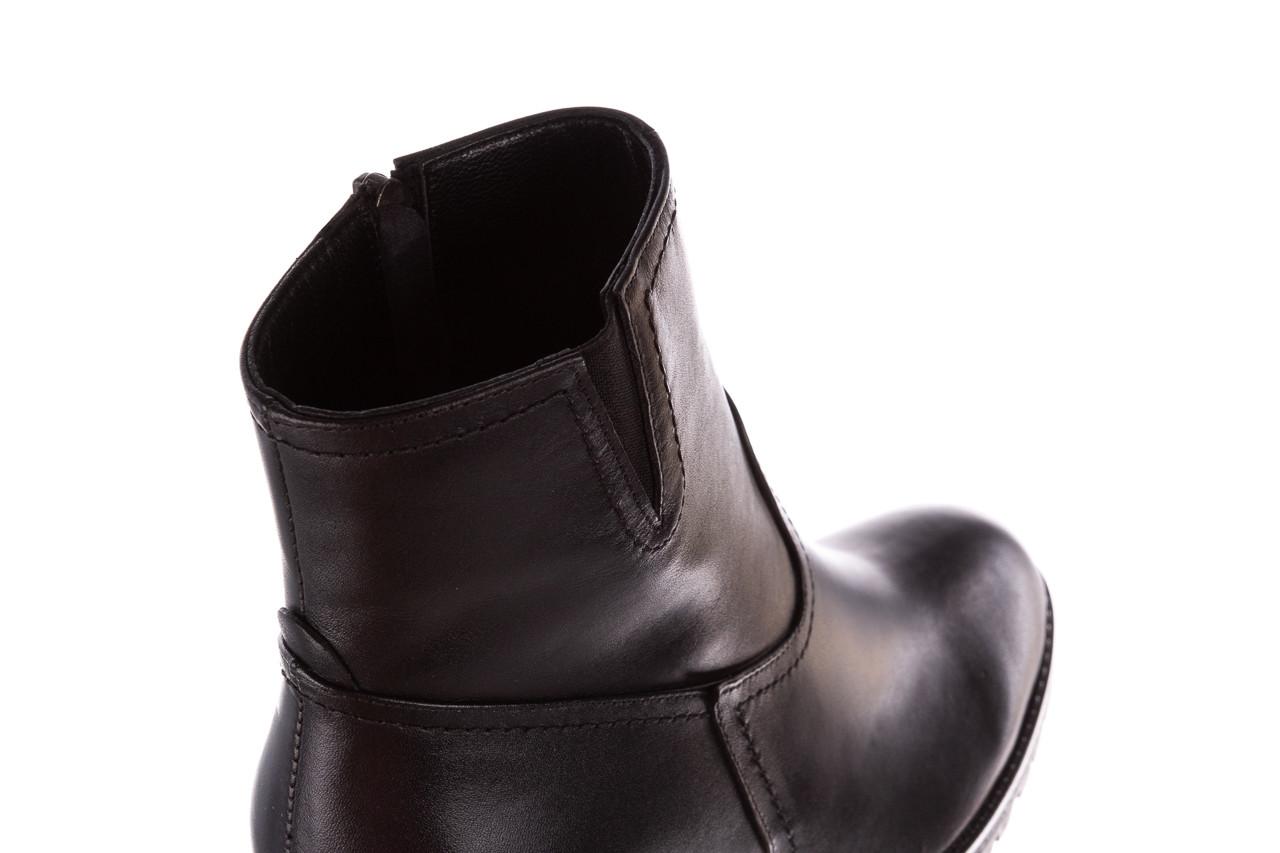 Botki bayla-196 969608 siy soft 196033, czarny, skóra naturalna  - skórzane - botki - buty damskie - kobieta 17