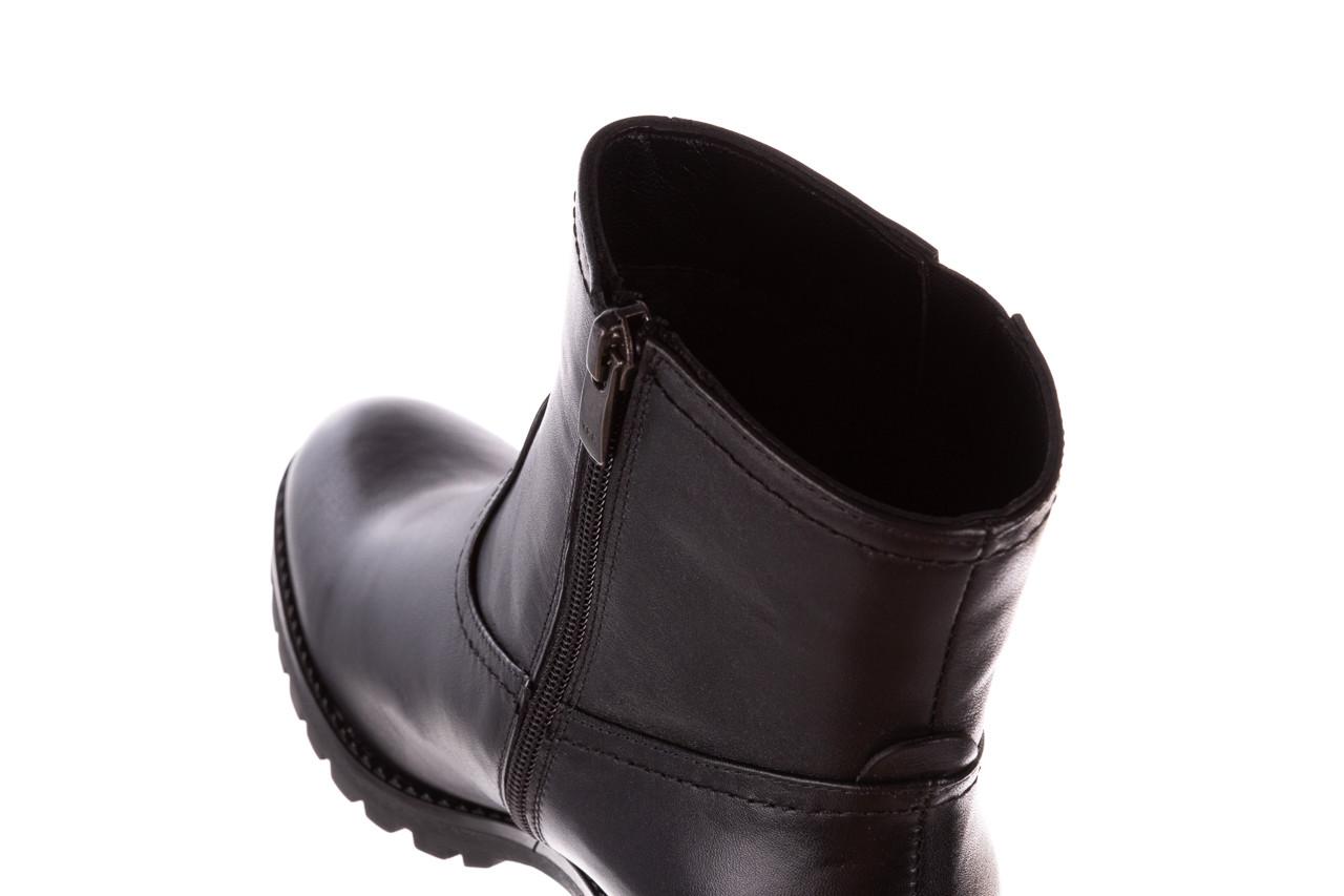 Botki bayla-196 969608 siy soft 196033, czarny, skóra naturalna  - skórzane - botki - buty damskie - kobieta 18