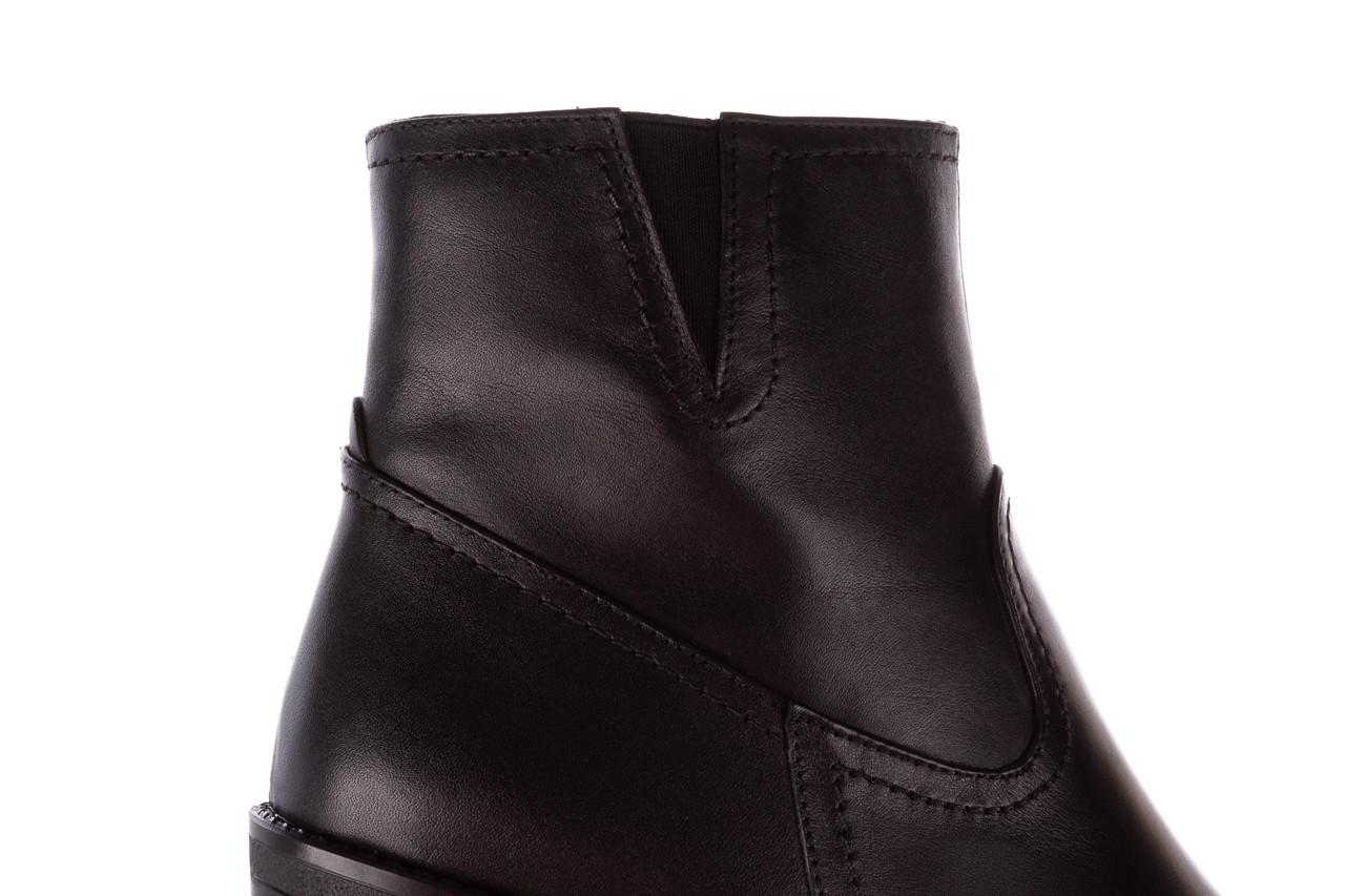 Botki bayla-196 969608 siy soft 196033, czarny, skóra naturalna  - skórzane - botki - buty damskie - kobieta 19